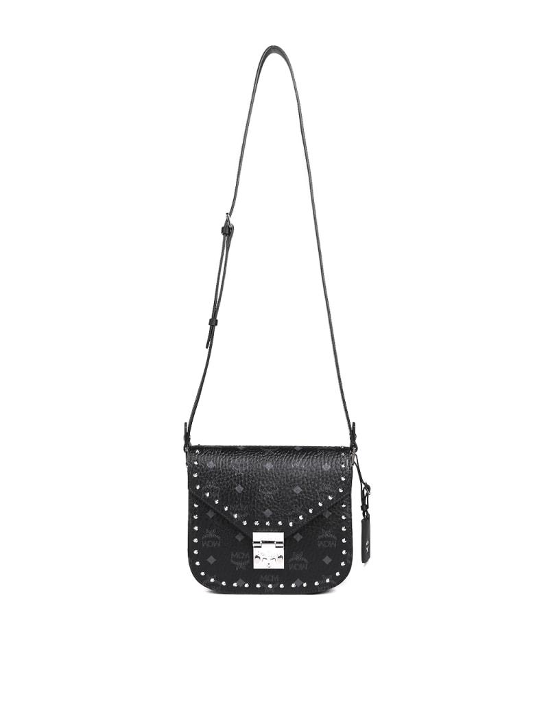 MCM Patricia Visetos Shoulder Bag - Black