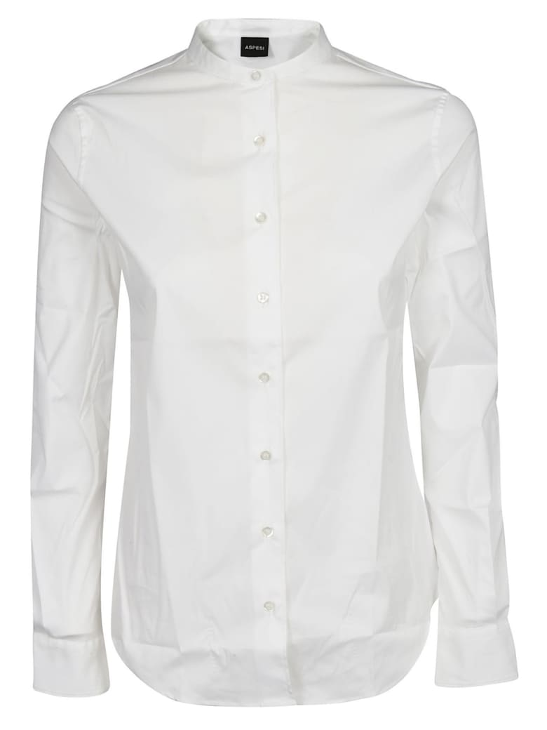 Aspesi Collarless Shirt - Optical White