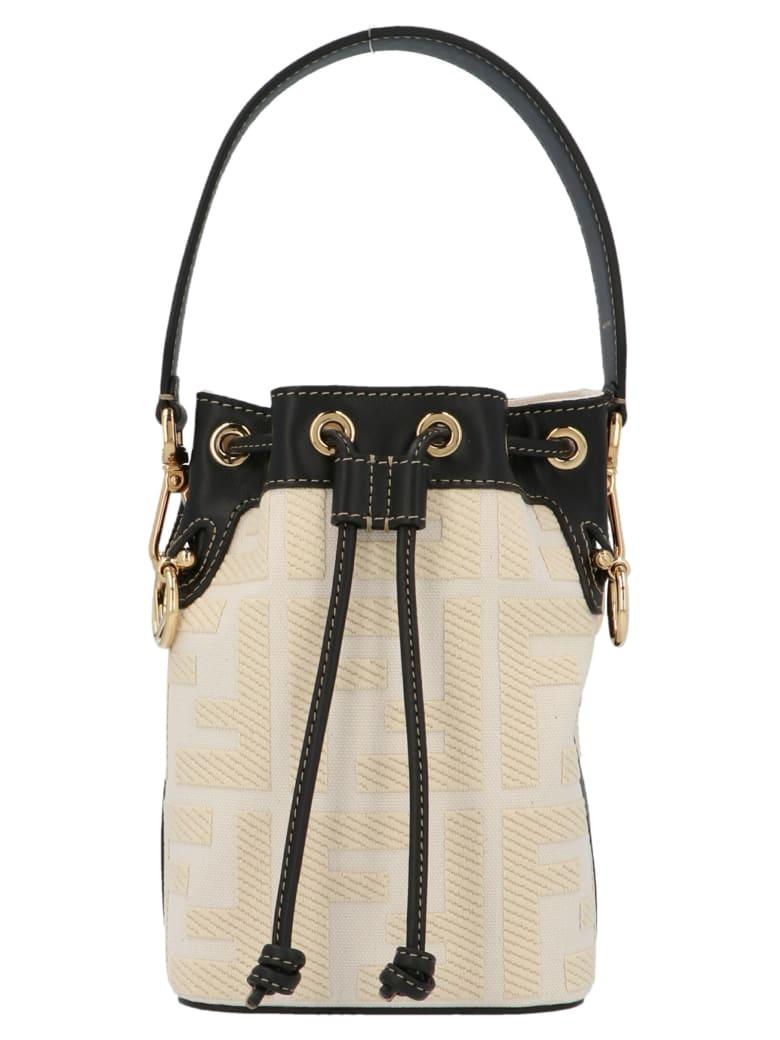 Fendi 'mon Tresor' Bucket Bag - Grezzo/nro/oro