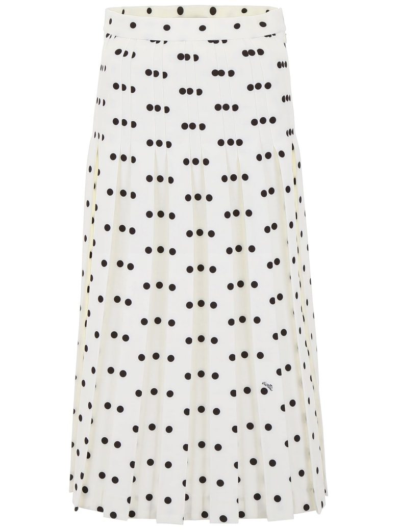 Vivetta Polka Dots Skirt - WHITE BLACK (White)
