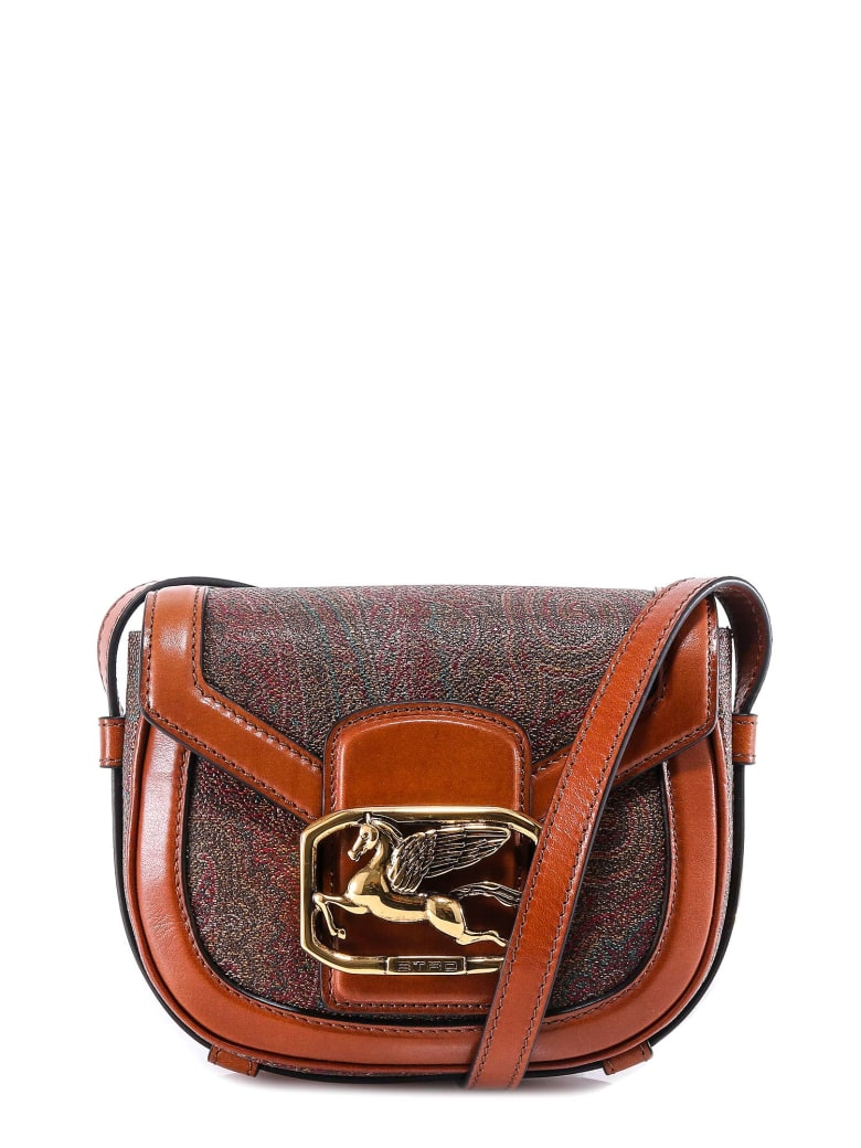 Etro Pegaso Paisley Shoulder Bag - Brown