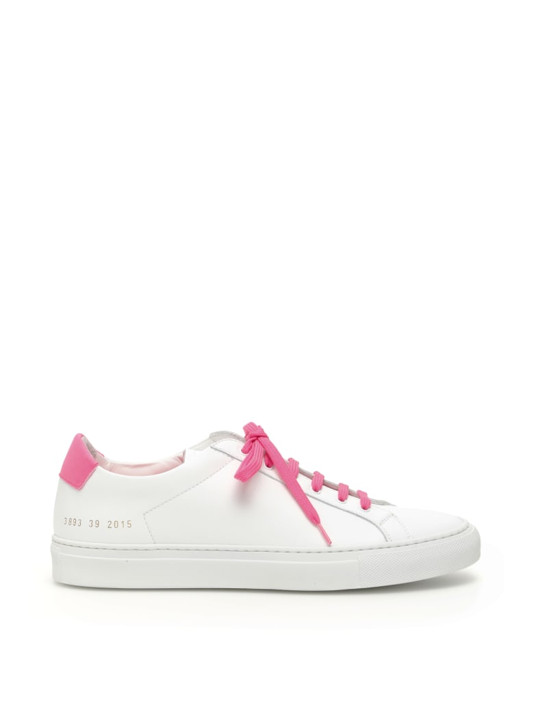 Common Projects Retro Low Fluo Sneakers - WHITE PINK (White)