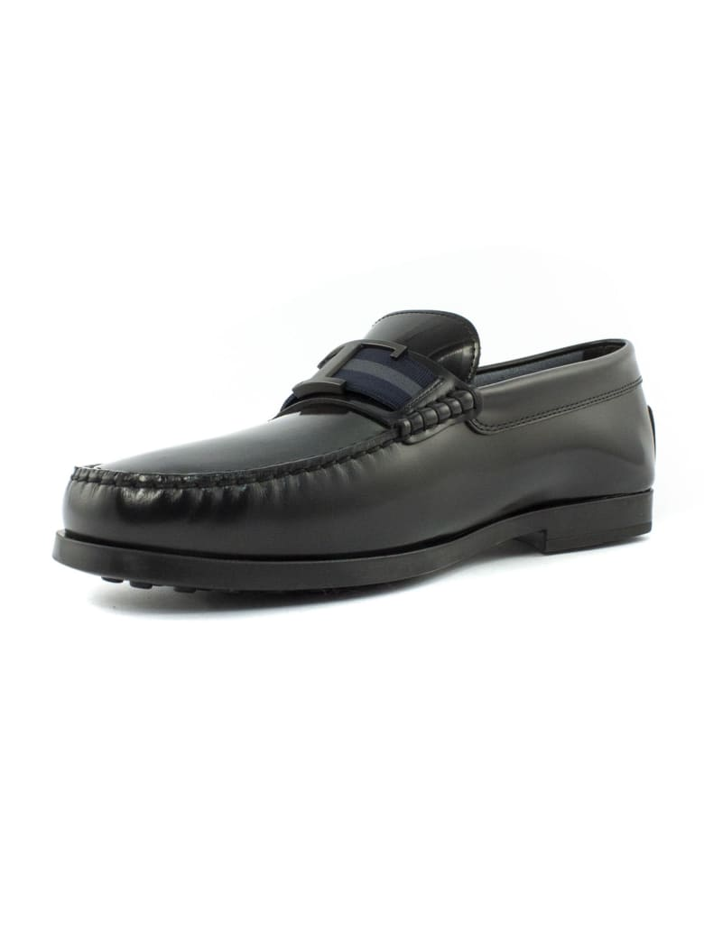 Tod's Black City Gommino Driving Shoes - Nero