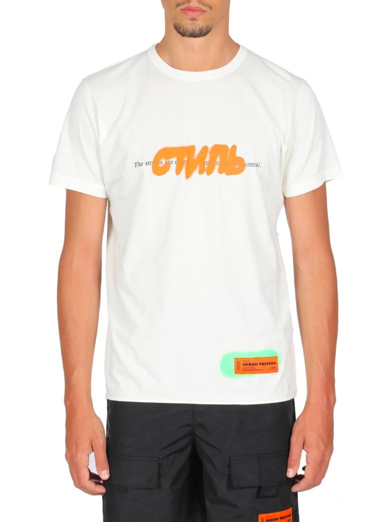 HERON PRESTON T-shirt Reg Ctnmb Spray Pack - Bianco/multicolor