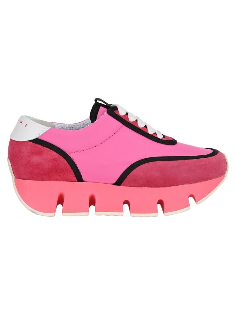 Marni Big Cut Sneakers - FUCHSIA