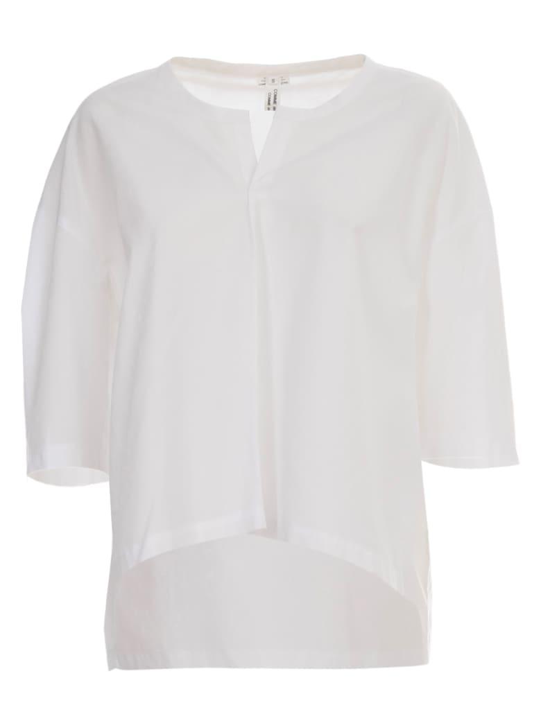 Comme des Garçons Comme des Garçons Pois Cotton Broad Tshirt - White