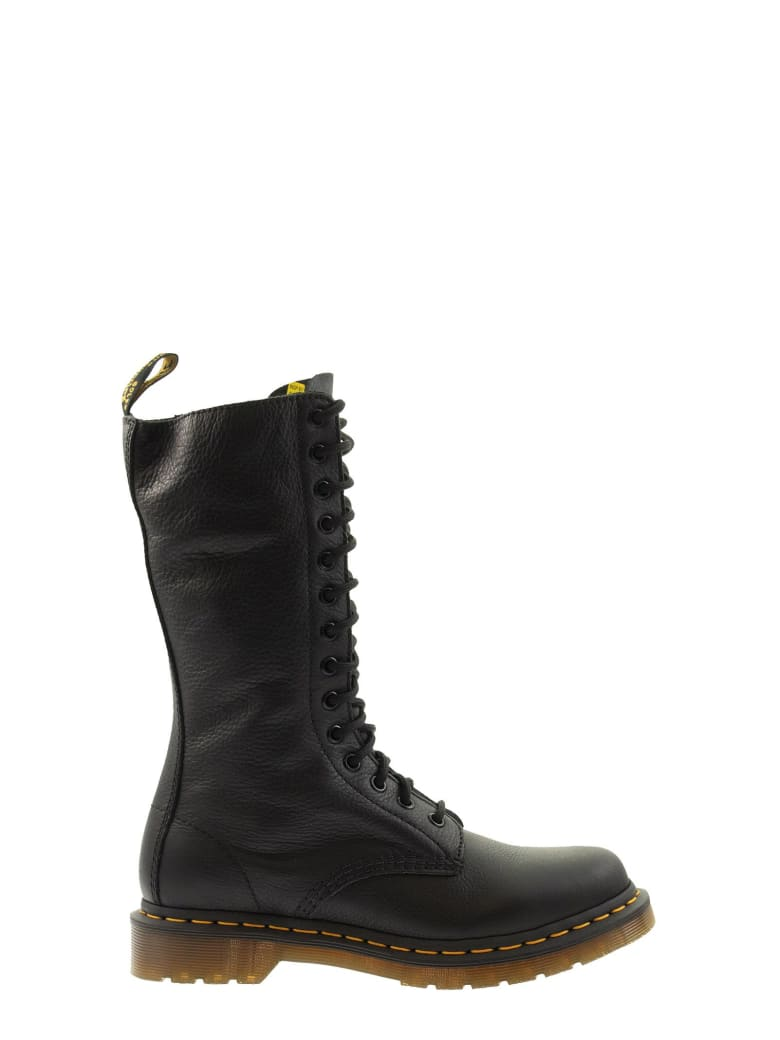 Dr. Martens Virginia Black Laced Boot - Black