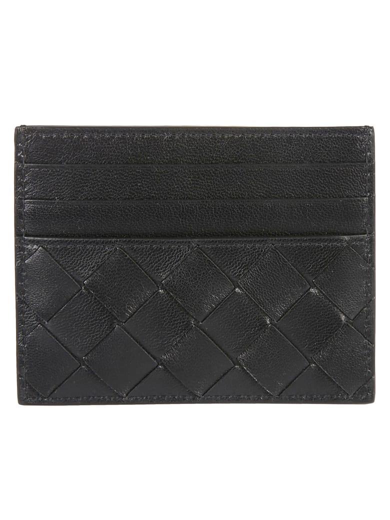 Bottega Veneta Weaved Card Holder - Black