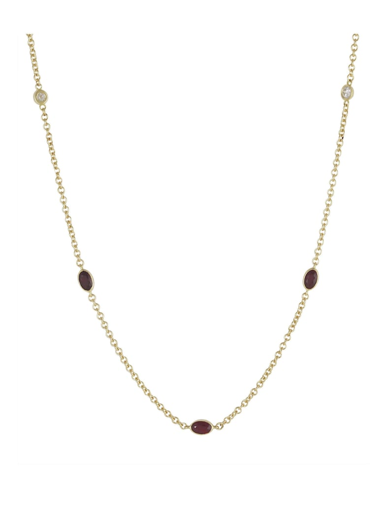 Lo Spazio Jewelry Lo Spazio Ruby and Diamond Necklace - Ruby