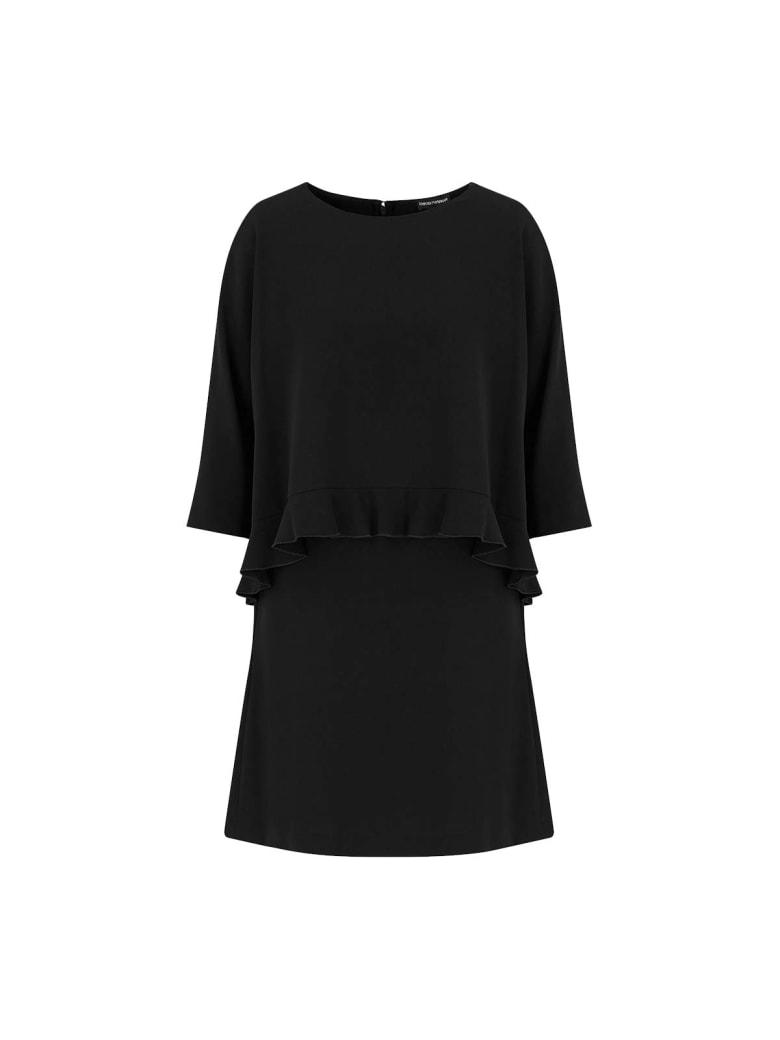 Emporio Armani Dress With Ruffles - Nero