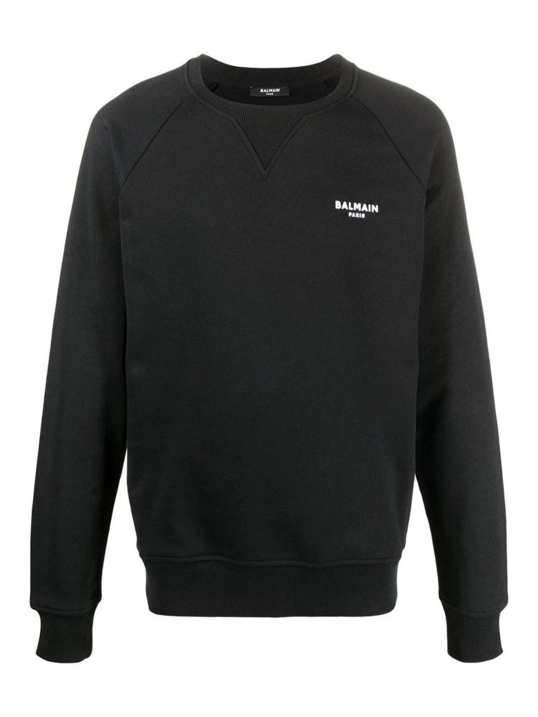 Balmain Black Cotton Sweatshirt - Nero