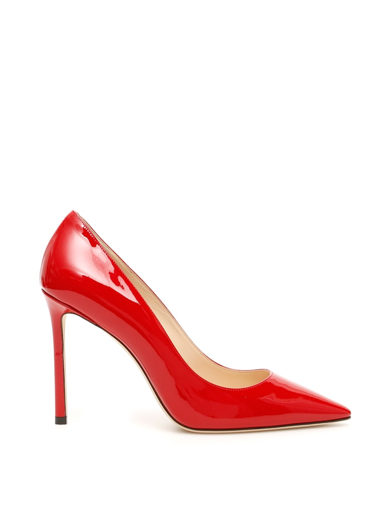 Jimmy Choo Patent Romy 100 Pumps - RED (Red)