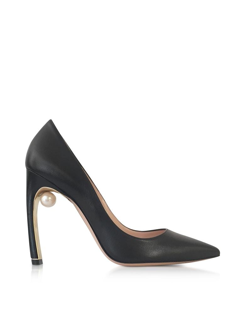 Nicholas Kirkwood Black Nappa Leather Mira Pearl Pumps - Black