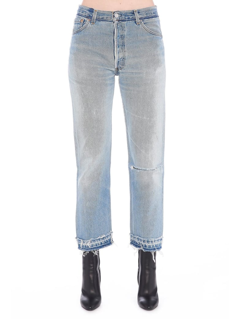 RE/DONE 'stone Pipe' Jeans - Blue