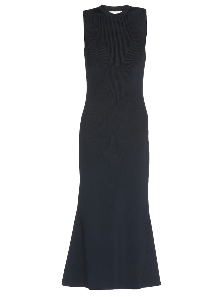 Victoria Beckham Flared Dress - NAVY