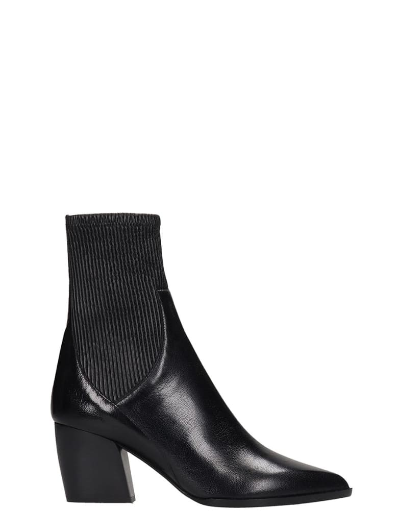 Pierre Hardy Rodeo Ankle Boots In Black Leather - black