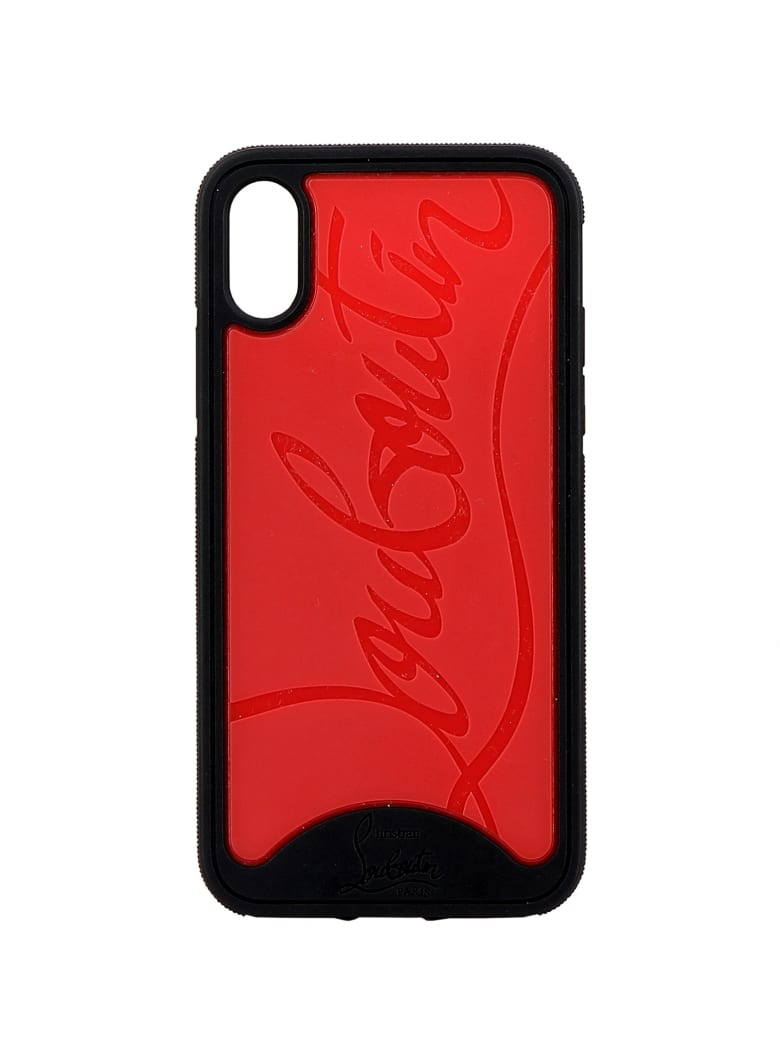 Christian Louboutin Black/red Rubber Cover - BLACK