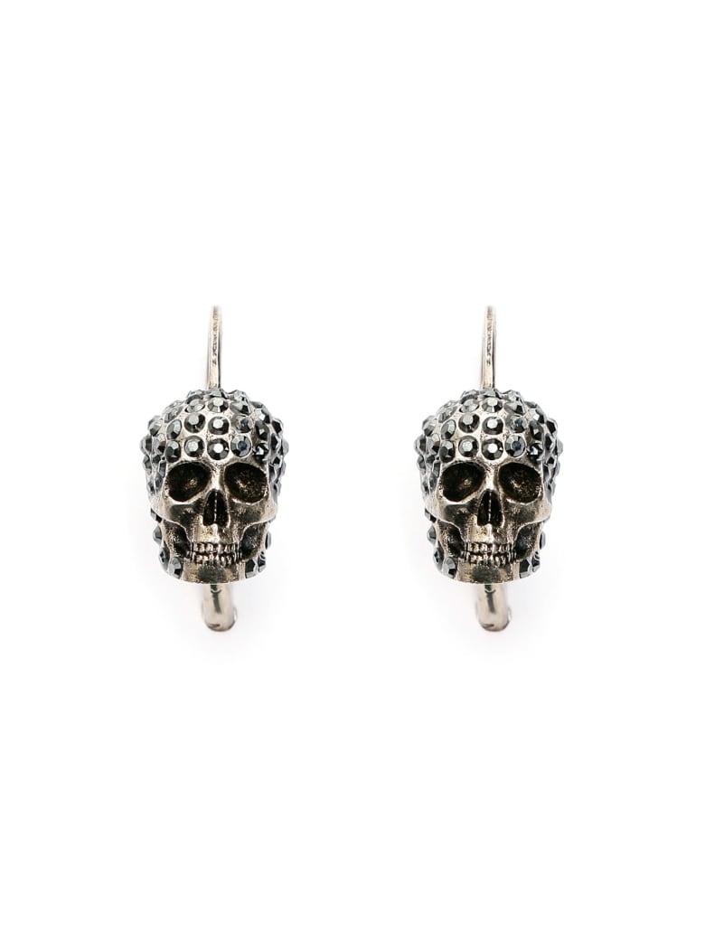 Alexander McQueen Pave Skull Earrings - MIX (Silver)