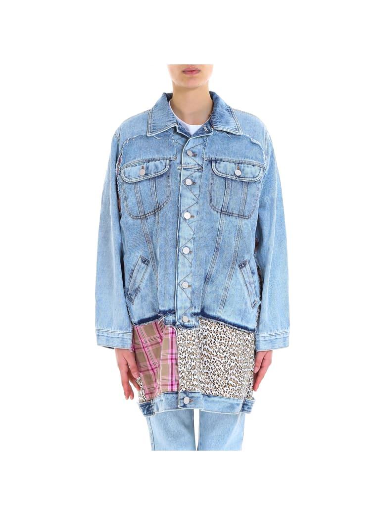 Natasha Zinko Padded Oversize Denim Jacket - Blue
