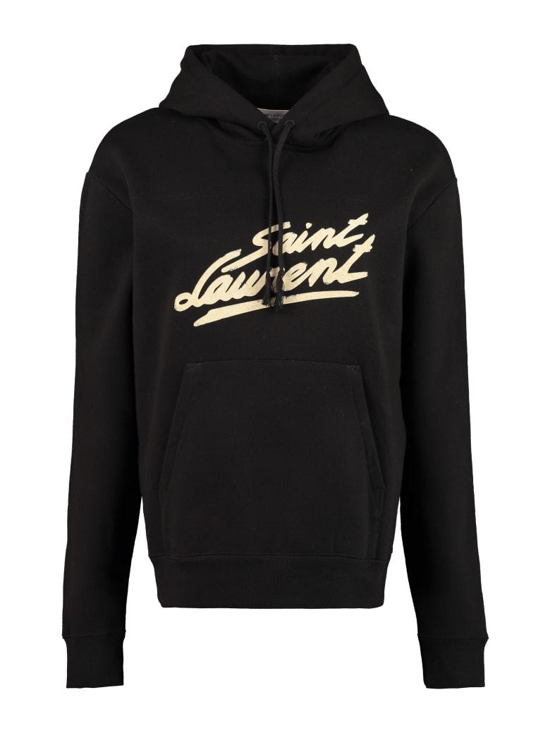 Saint Laurent Cotton Hoodie - black
