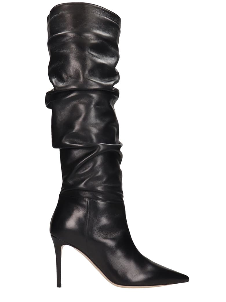 Dei Mille Boots In Black Leather - black