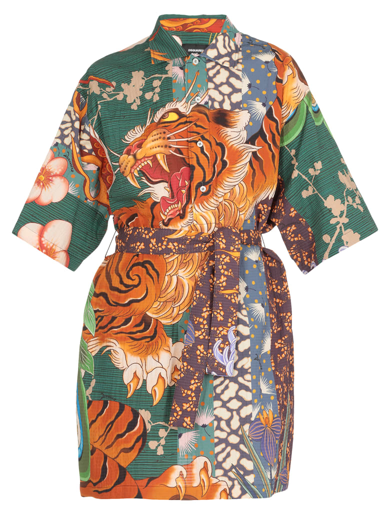 Dsquared2 Cotton Dress - Mix colours