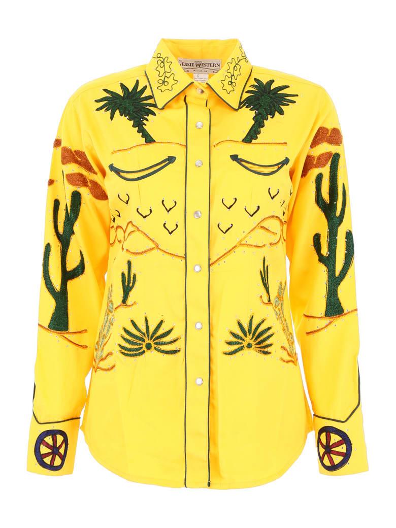 Jessie Western Embroidered Shirt - YELLOW (Yellow)