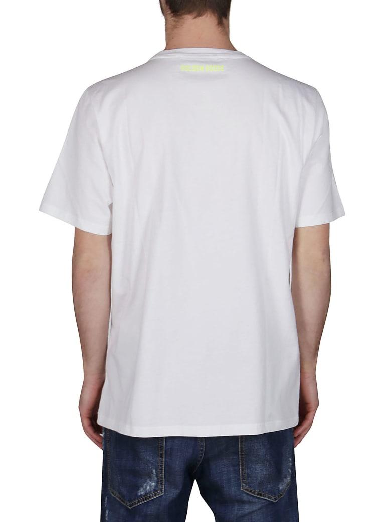 Golden Goose White Cotton T-shirt - WHITE YELLOW