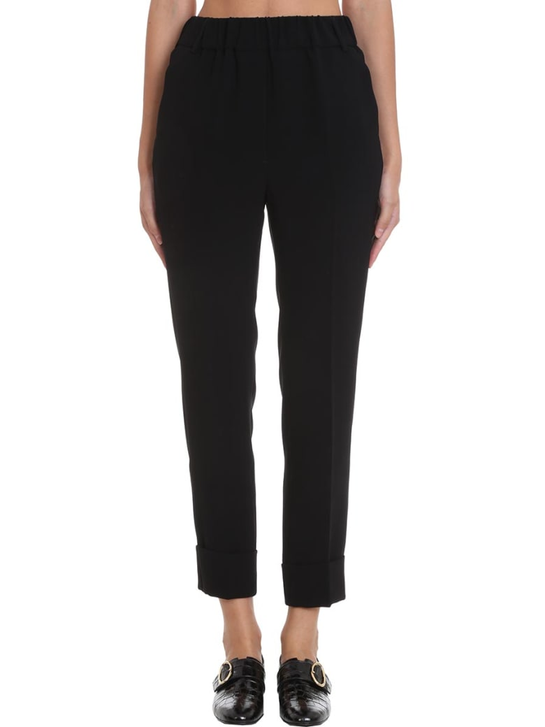 Maison Flaneur Pants In Black Tech/synthetic - black