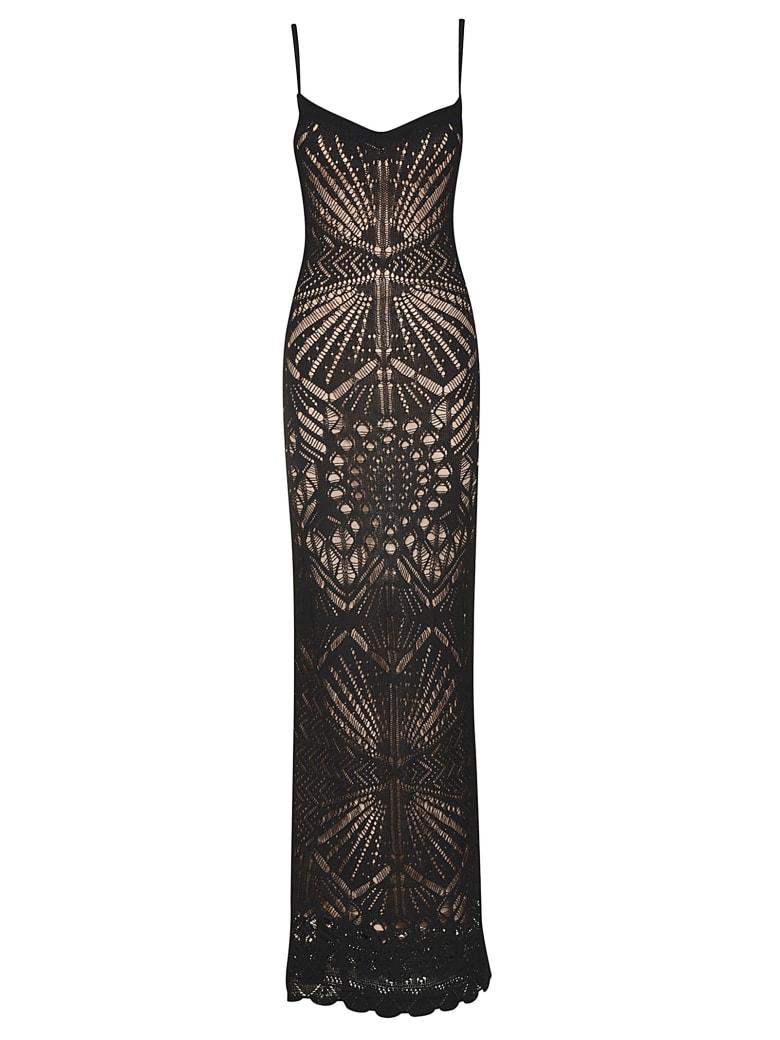 Dsquared2 Perforated Sleeveless Dress - Black