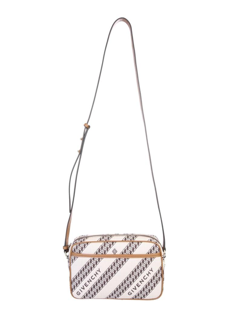 Givenchy Chain-print Shoulder Bag - Beige