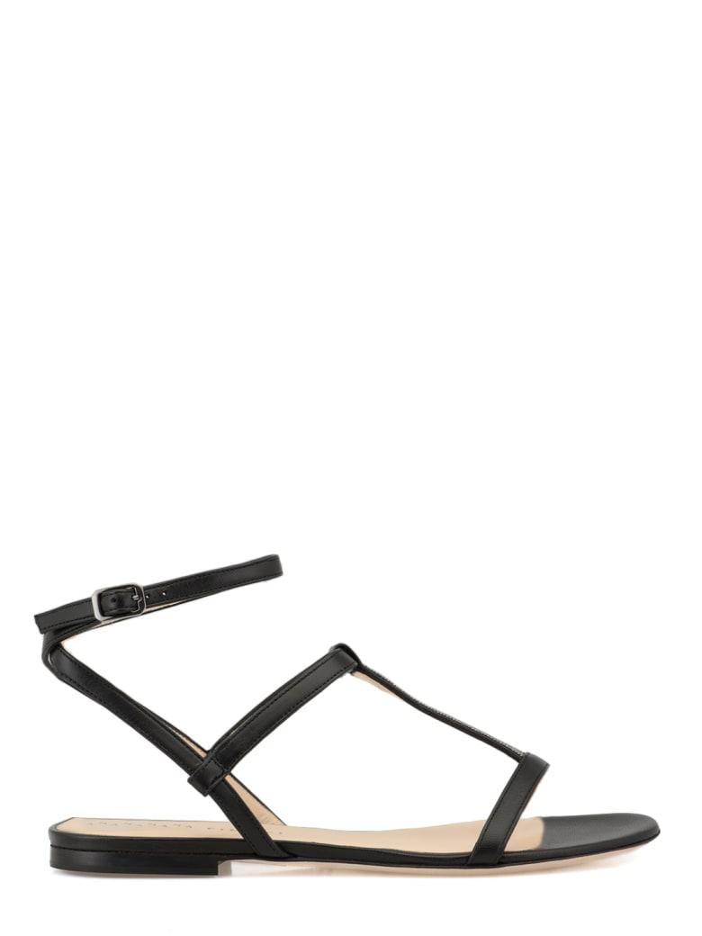 Fabiana Filippi Leather Flat Shoes - BLACK