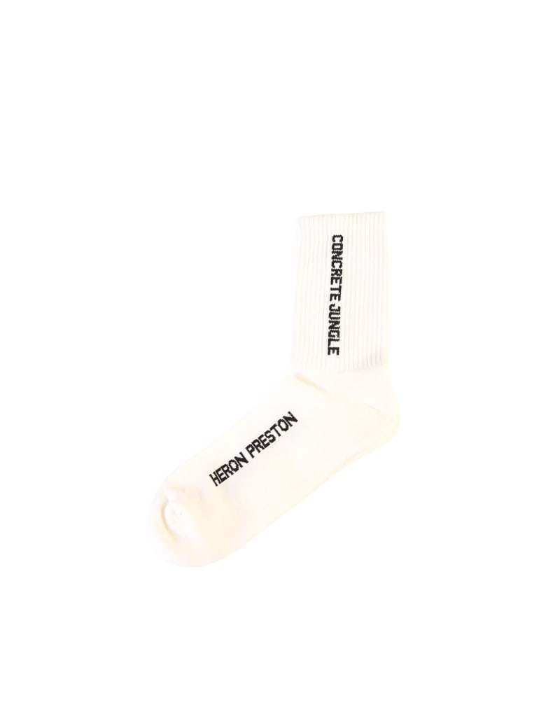 HERON PRESTON Branded Socks - White