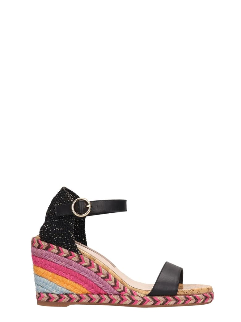 Sophia Webster Black Suede Lucita Mid Sandals - black