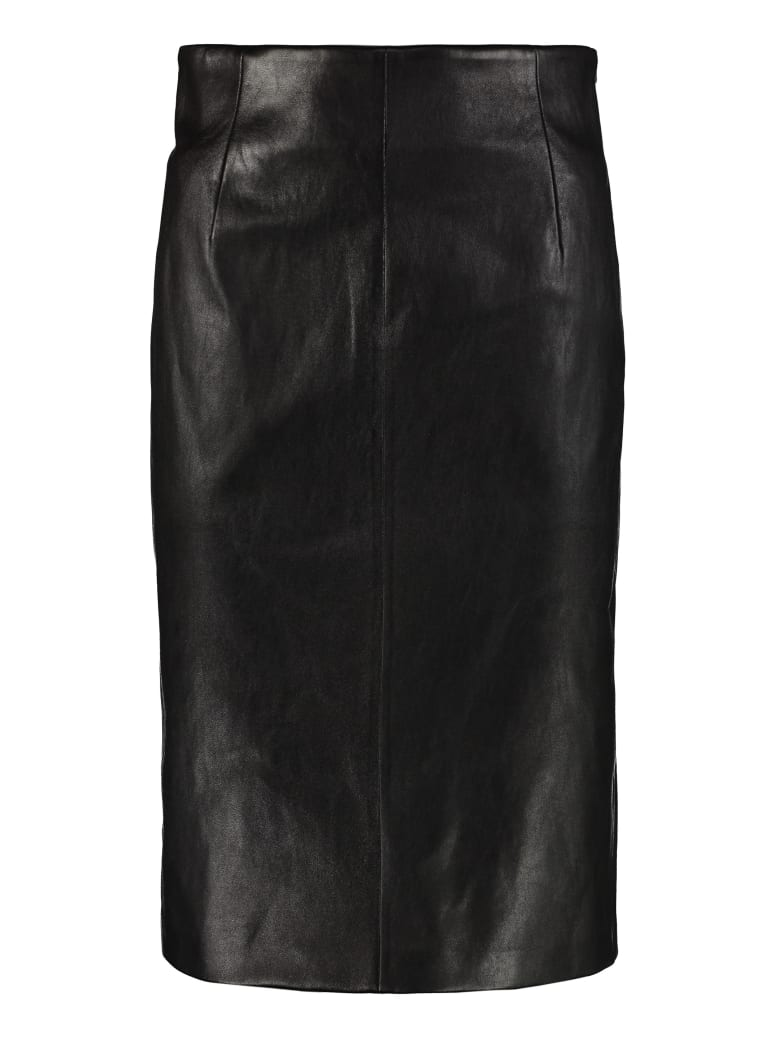 Prada Pencil Skirt With Zip - black