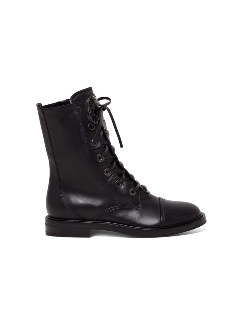 Casadei Lace Up Ankle Boots - Black
