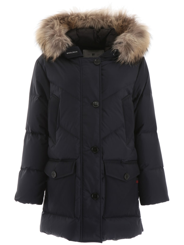 Woolrich Parka With Fur - BLUE (Blue)