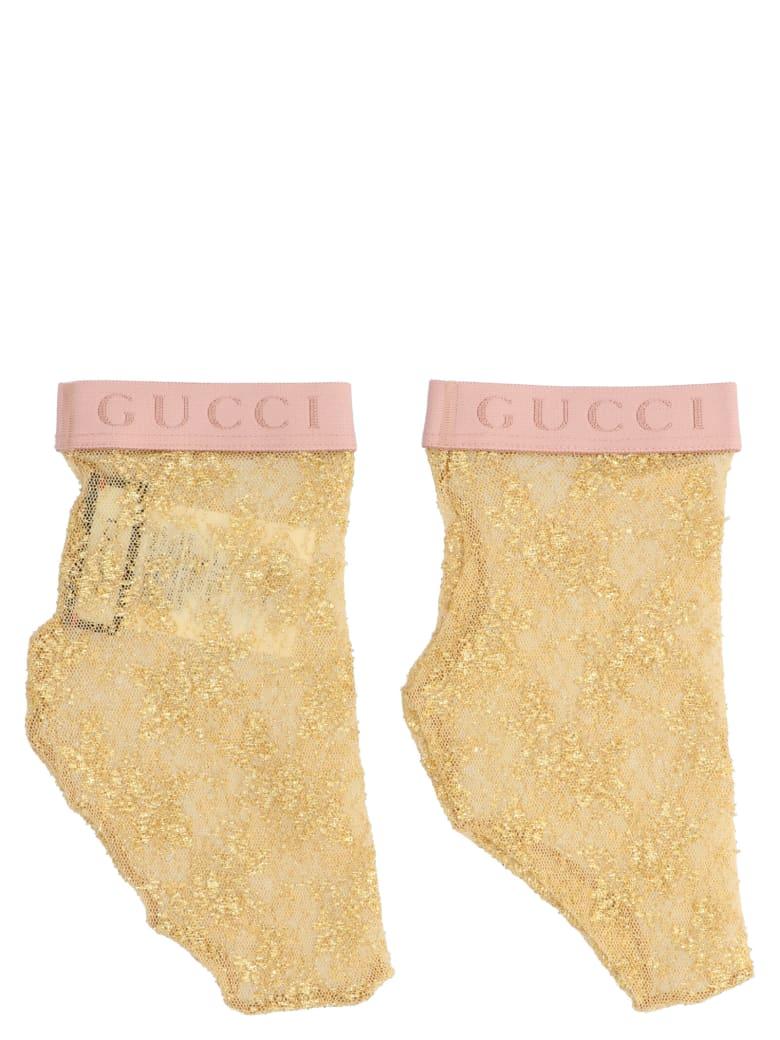 Gucci 'mini Flirt' Socks - Gold