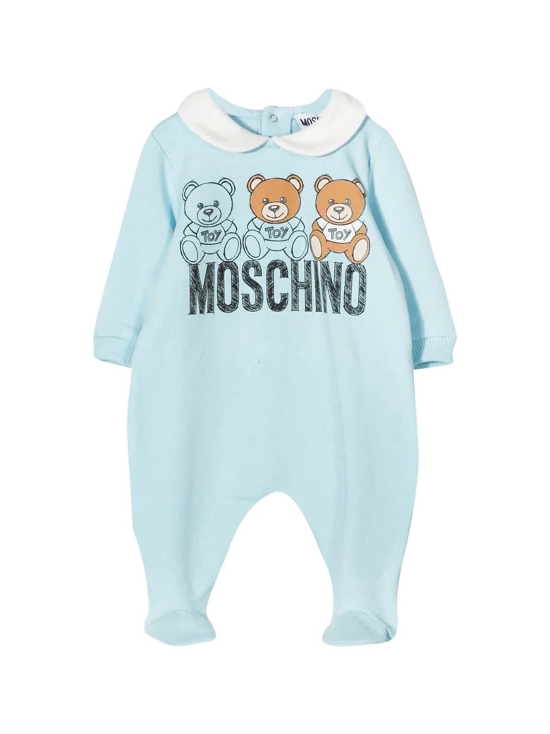 Moschino Blue Romper With Frontal Toy Press - Blu