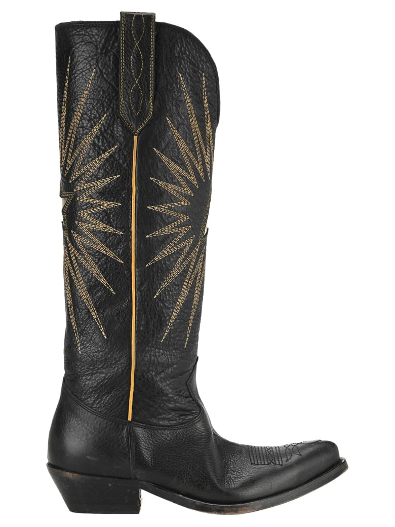 Golden Goose Wish Star Boots - BLACK