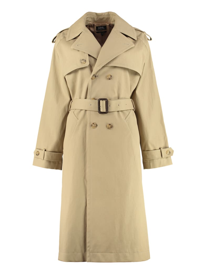 A.P.C. Simone Cotton Trench Coat - Beige