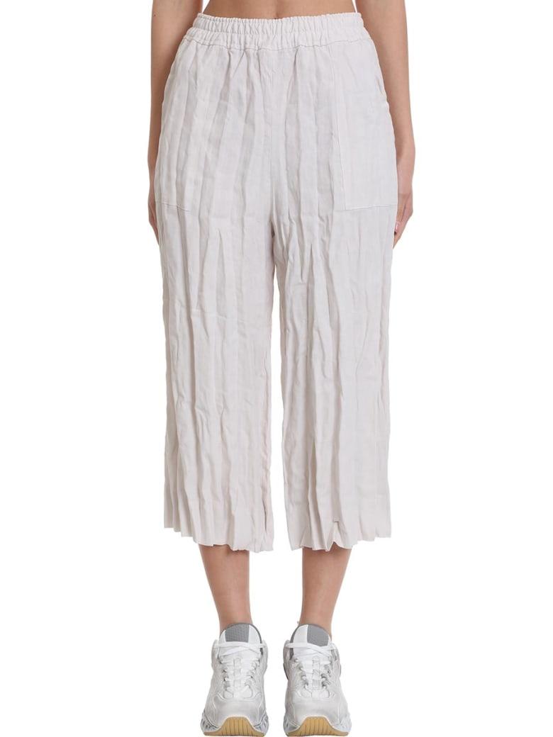 Acne Studios Parisa Pants In Beige Cotton - beige