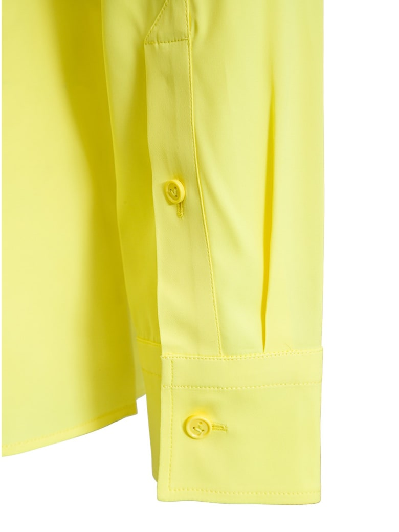 Bottega Veneta Stretch Viscose Shirt With Ruffles - Giallo