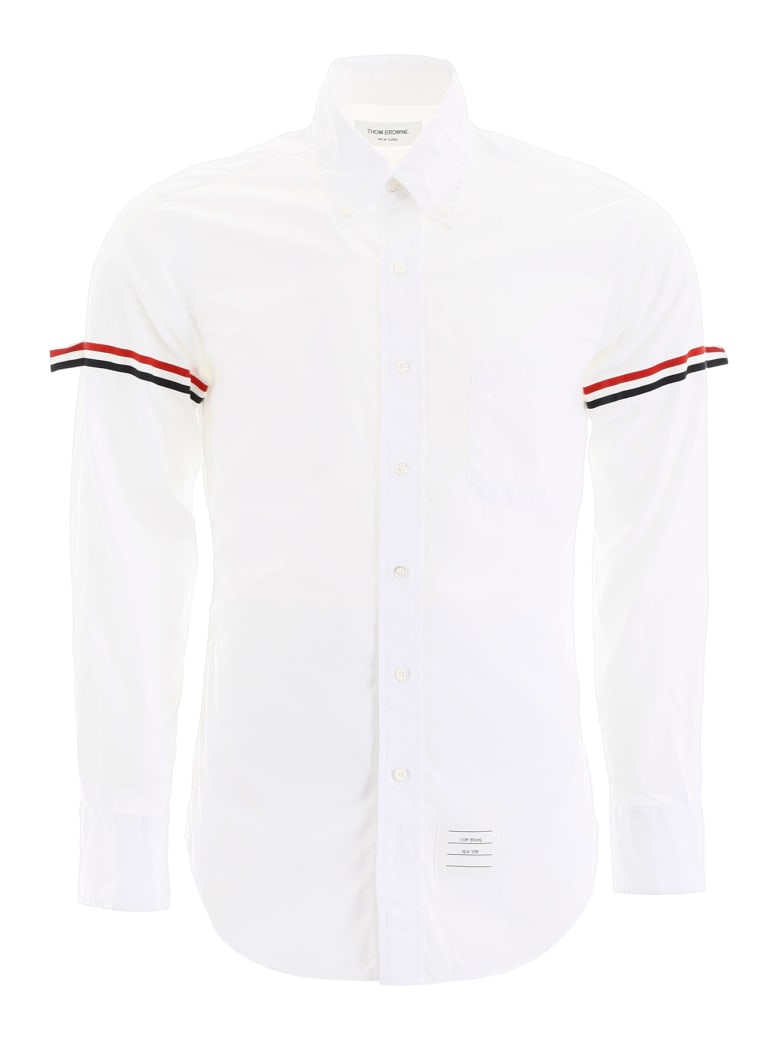 Thom Browne Shirt With Tricolor Bands - OFFWHITE (White)