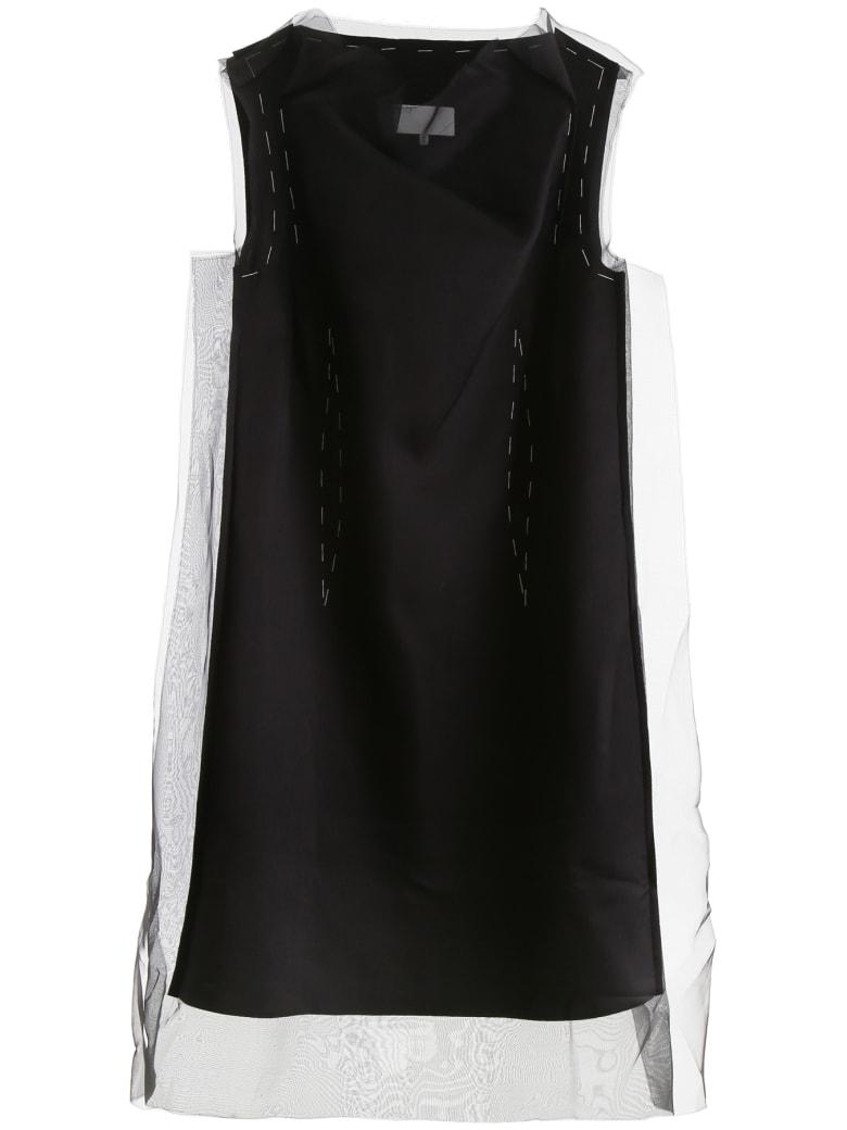 Maison Margiela Midi Dress With Stitching - BLACK (Black)