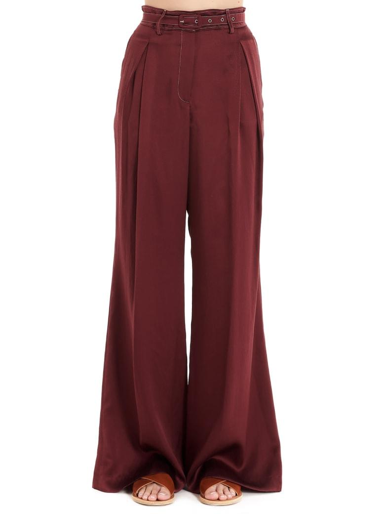 Gabriela Hearst 'dora' Pants - Burgundy