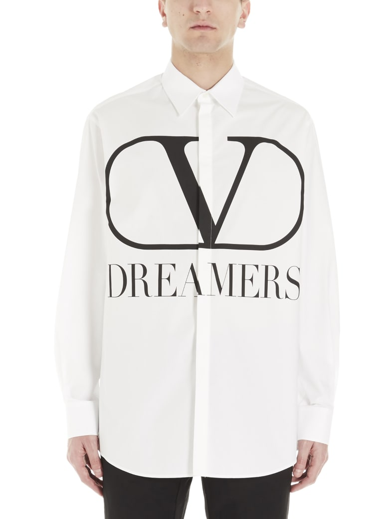 Valentino 'dreamers' Shirt - Bianco Nero