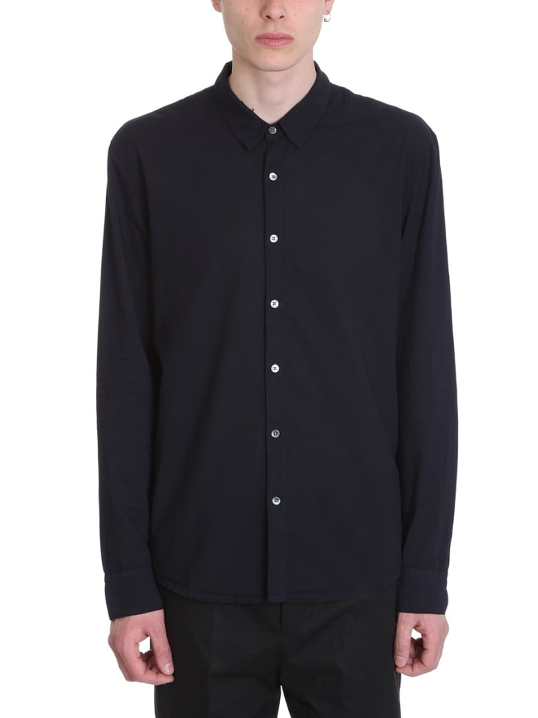 James Perse Blue Cotton Shirt - blue