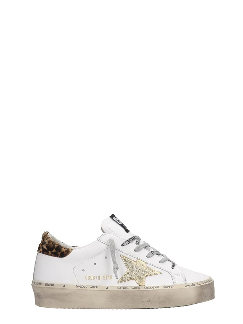 Golden Goose Hi-star Sneakers In White Leather - white