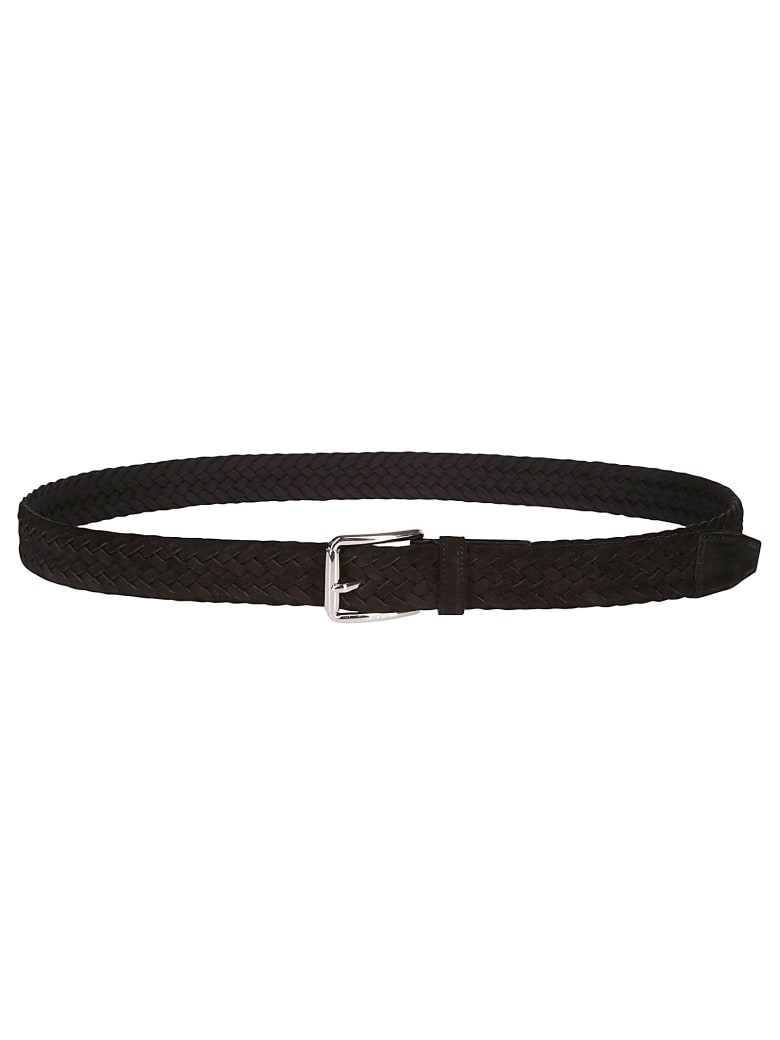 Tod's Black Suede Belt - Black
